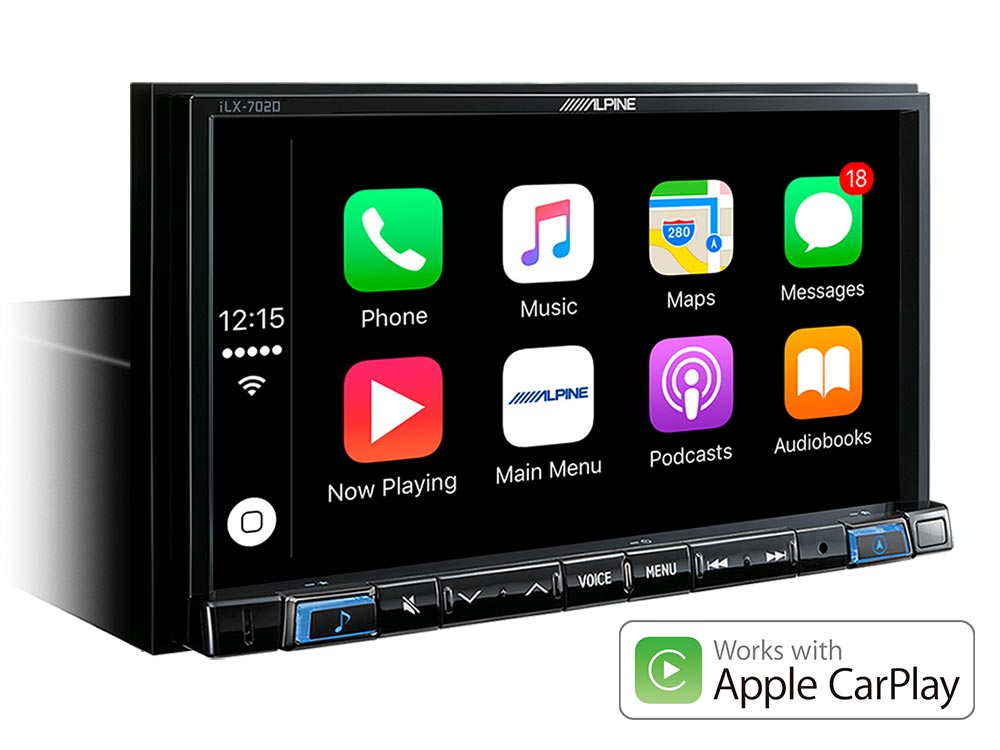"7"" Digital Media Station, featuring Apple CarPlay and"