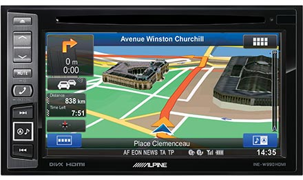 Packed with Advanced Navigation Features - INE-W990HDMI