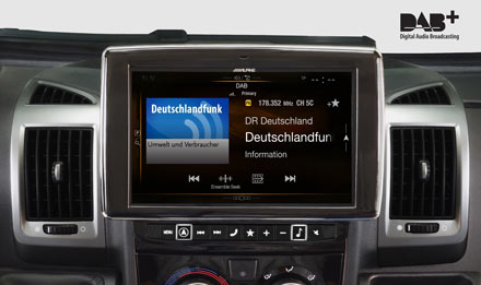 Ducato, Jumper and Boxer - DAB Digital Radio - X901D-DU