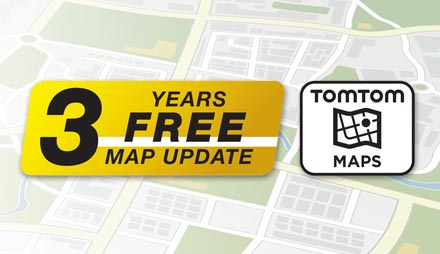 TomTom Maps with 3 Years Free-of-charge updates - X703D-F