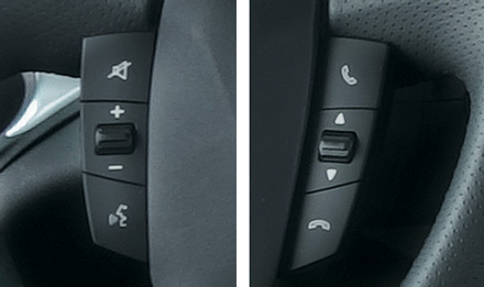 Iveco Daily - Steering wheel remote buttons