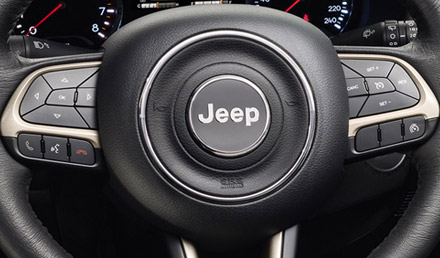 Jeep Renegade steering wheel keys
